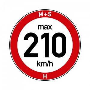 Vitesse maximale autorisée pour monter des pneus hiver à l'indice de vitesse inférieur à celui des pneus été