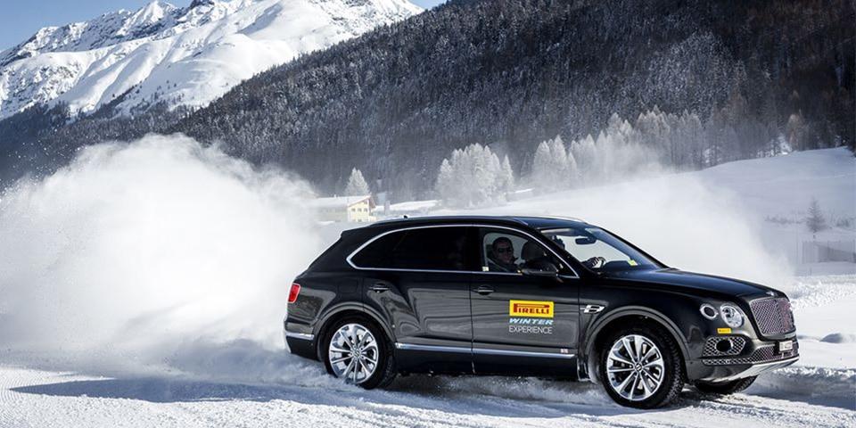 Pirelli-winter-experience-Bentley-neige