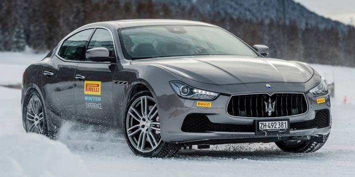 Pirelli winter experience Maserati Ghibli