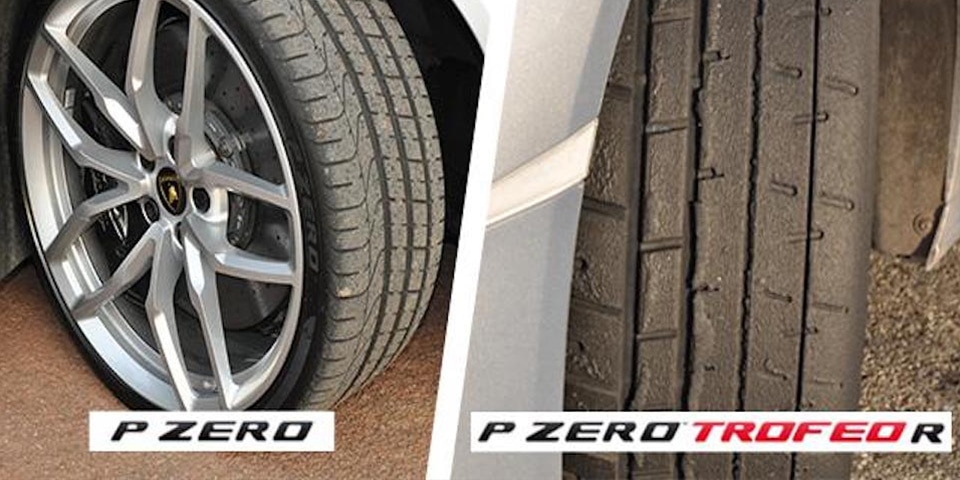 Pirelli Pzero VS Pzero Trofeo R