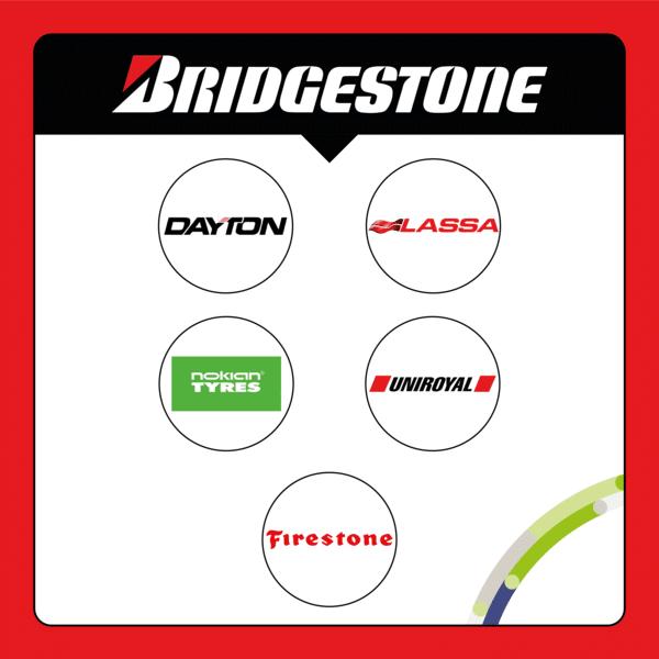 Quelles sont les sous-marques de Bridgestone ?