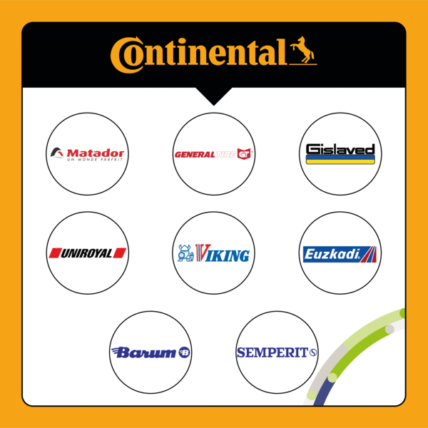 Quelles sont les marques qui appartiennent à Continental ?