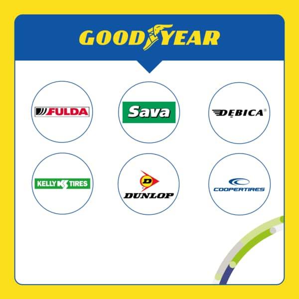 Quelles marques de pneus appartiennent à Goodyear ?