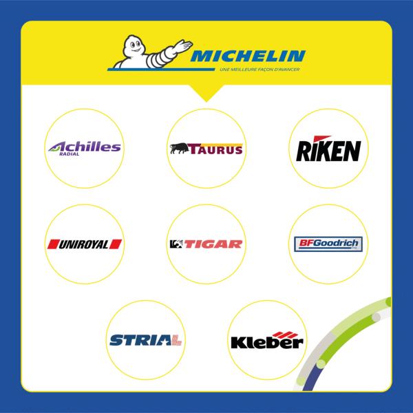 Quelles marques appartiennent aux pneus Michelin ?